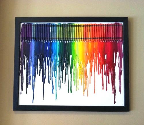 Lienzos con crayones 4