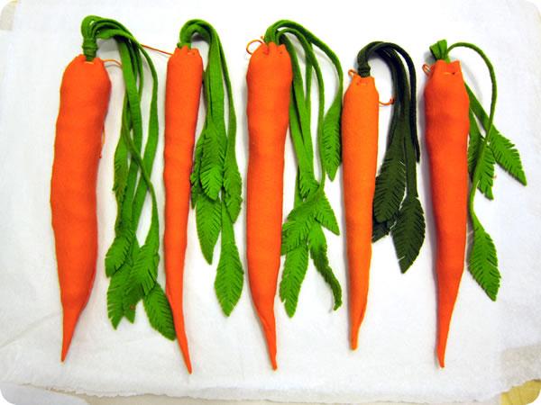 Zanahorias de fieltro 1