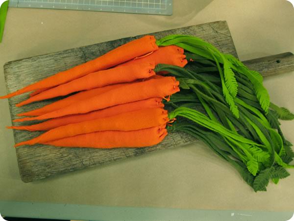 Zanahorias de fieltro 3