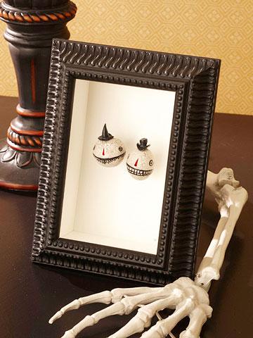 Enmarcar unas cabezas reducidas para Halloween 1