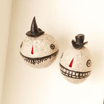 Enmarcar unas cabezas reducidas para Halloween 2