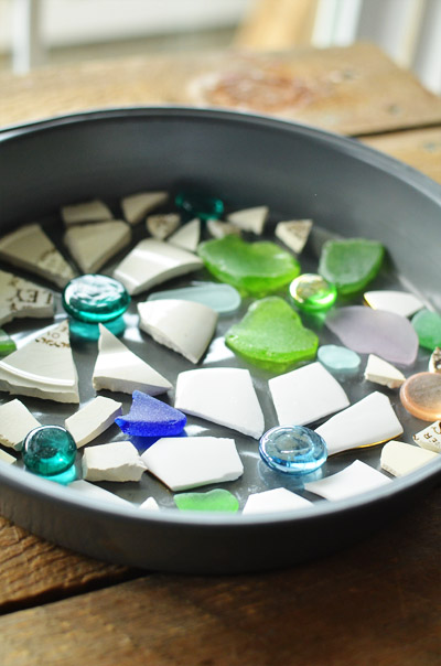 Piedras con mosaicos para el jardín 4