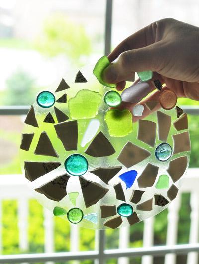 Piedras con mosaicos para el jardín 5