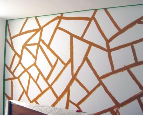 pared con un diseño geométrico 2