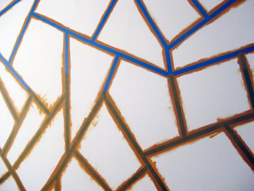 pared con un diseño geométrico 3