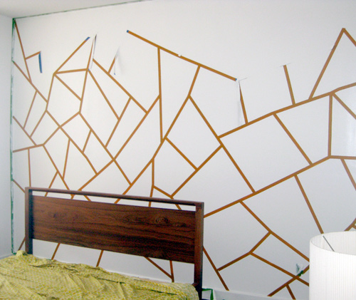 pared con un diseño geométrico 5
