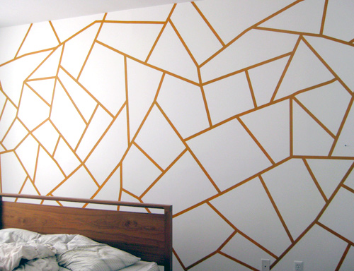 pared con un diseño geométrico 6