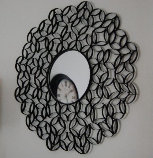 Wall Art with Toilet Paper Rolls