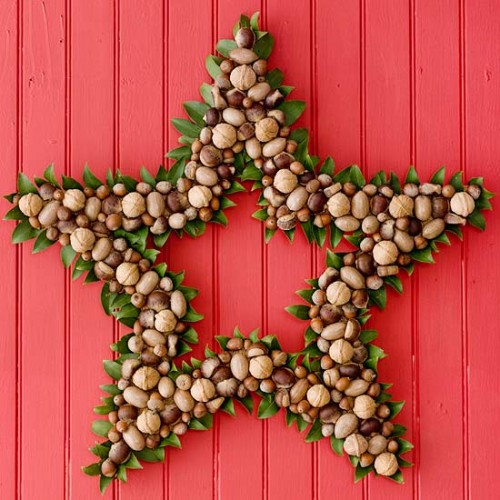 Star Christmas Wreath Idea