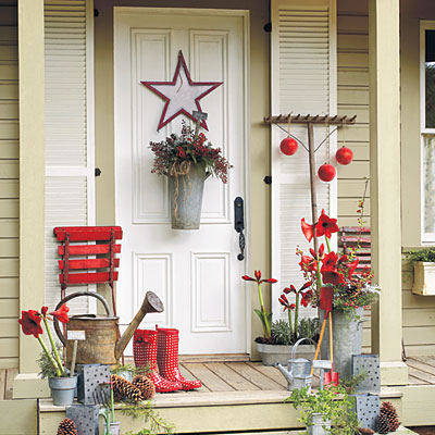 Decora tu entrada para navidad gu a de manualidades for Decoration porte noel pinterest