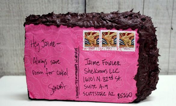 imagen Felicitar con una tarta postal