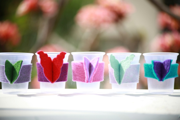 Asas para vaso de fieltro 1