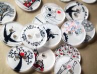 imagen Cómo hacer botones de plástico decorados