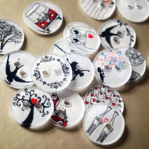 Botones decorados 1