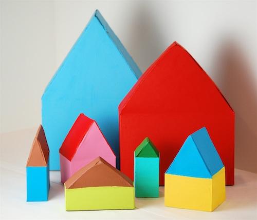 Casas con cajas de cereales 1