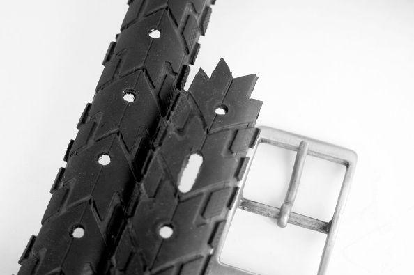 Cinturón con neumático de bicicleta 6