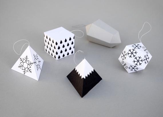 Adornos de papel navideños 1