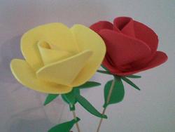 Rosas de goma eva12