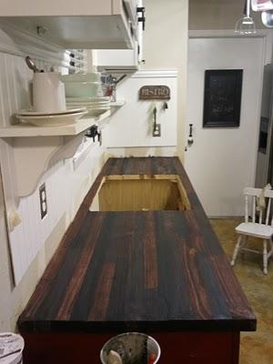 Paso a paso para una encimera de madera en la cocina Pintar encimera cocina