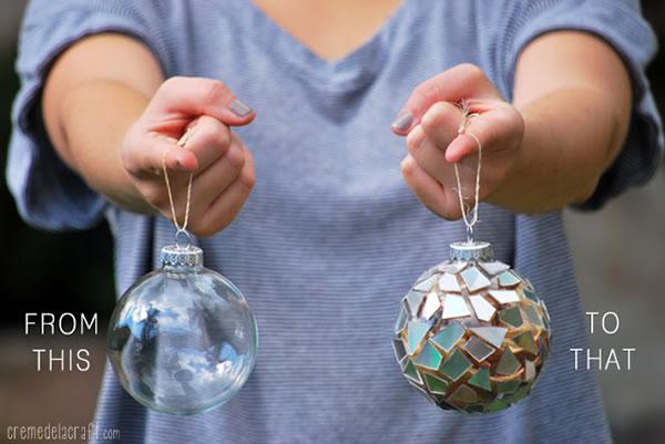 Bolas navideñas con cds 3