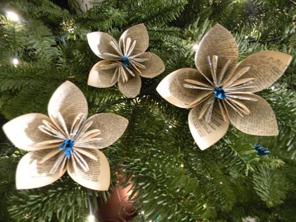 Flores de papel reciclado 0
