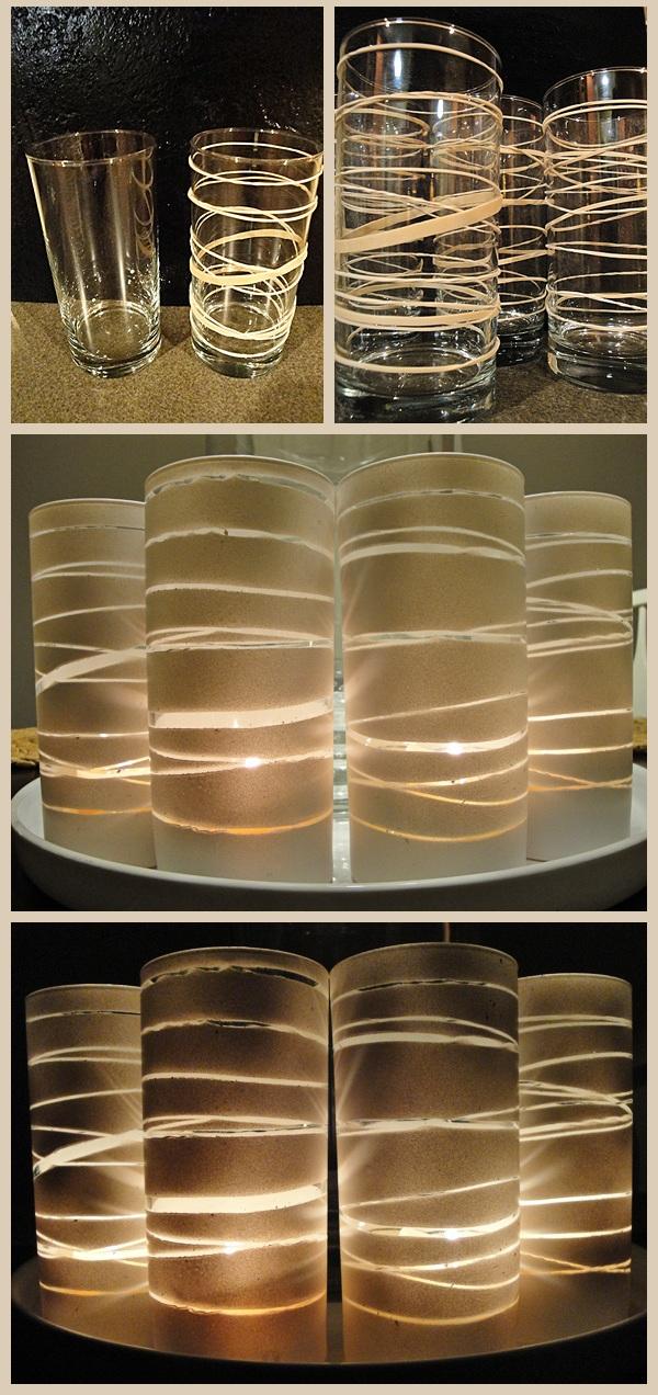 Portavelas con vasos pintados 1