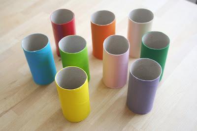 móvil con tubos de cartón 1