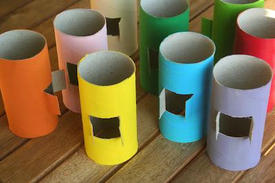 móvil con tubos de cartón 2
