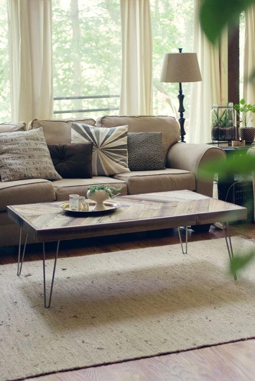 Mesa de living con madera recuperada 1
