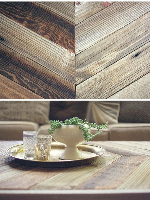 Mesa de living con madera recuperada 2