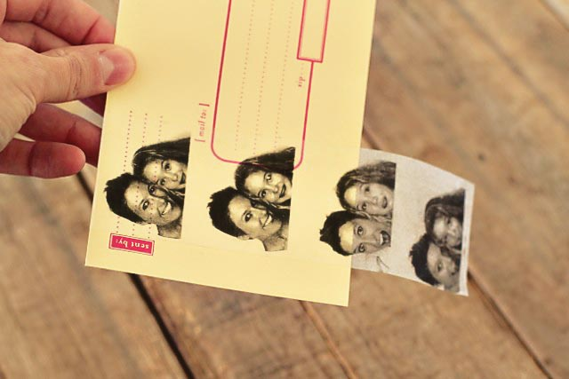 Tranferencia de imágenes con cinta adhesiva