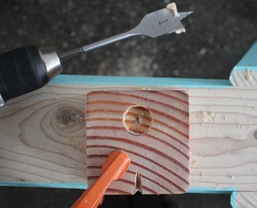 Candelabro de madera y cobre 5