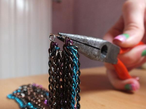 Colgante con cadenas de colores 6