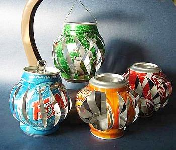 Linternas con latas de refrescos 1