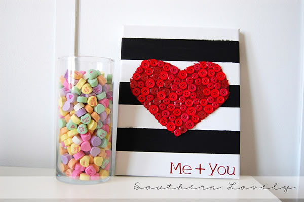 corazón de botones para San Valentín1