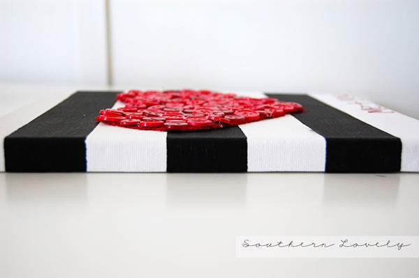 corazón de botones para San Valentín2