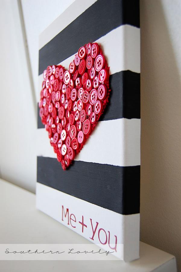 corazón de botones para San Valentín3