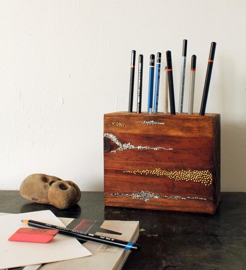 Portalápices de madera 1