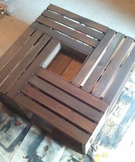 Mesa de centro con cajas de madera gu a de manualidades for Cajas para zapatos leroy merlin
