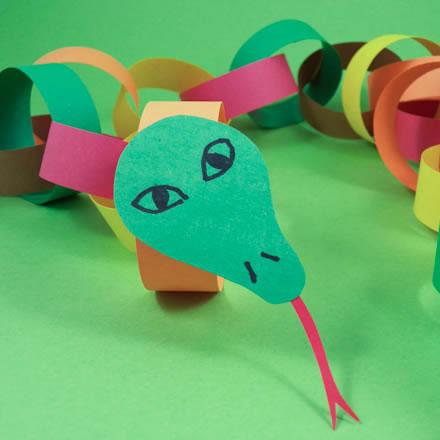 Serpiente de papel para niños 1