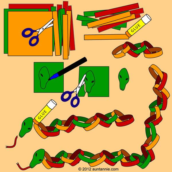 Serpiente de papel para niños 2