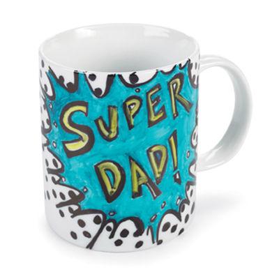 Una taza decorada para papá