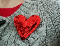 imagen Corazón de lentejuelas