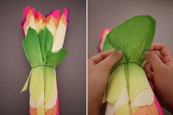 Flores de papel crepé10