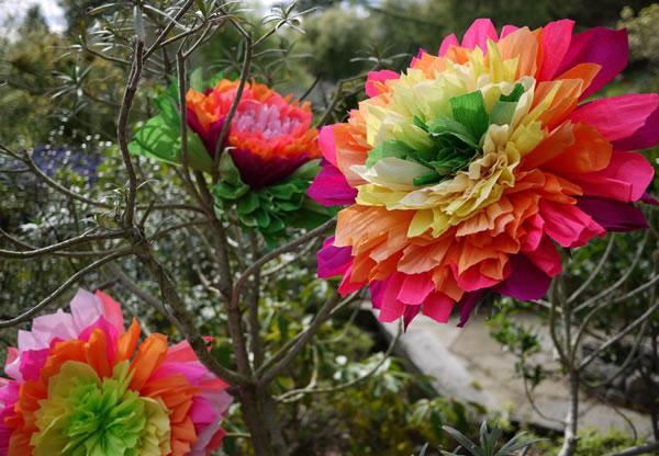 Flores de papel crepé12
