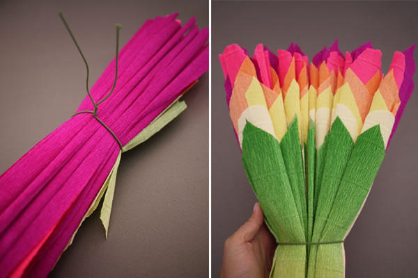 Flores decorativas con papel crep gu a de manualidades for Manualidades con papel crepe