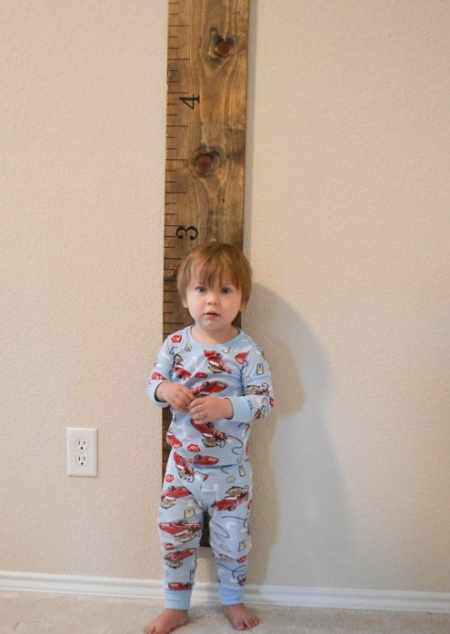 Medidor infantil de madera gu a de manualidades - Medidor infantil madera ...