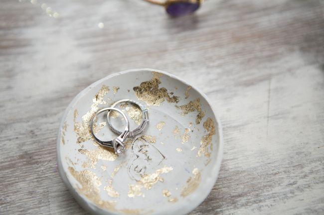 Plato para anillos con pan de oro1