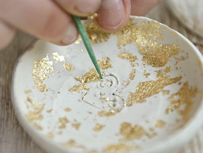Plato para anillos con pan de oro4