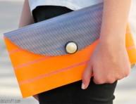 imagen Bolso de mano decorado con cinta washi